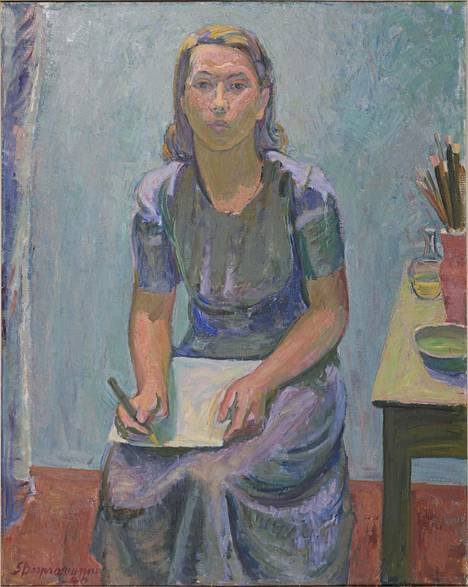 Sam Vanni: Tove Janssonin muotokuva, 1940.