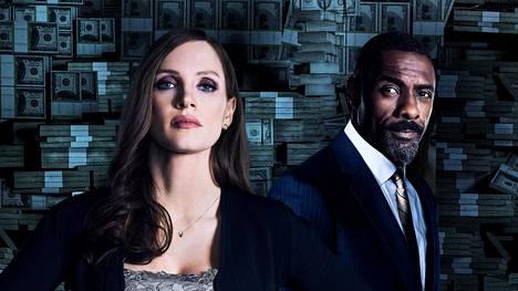 Molly's Game -elokuvan pääosissa ovat Jessica Chastain ja Idris Elba.