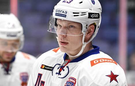 SKA:n Joonas Kemppainen KHL:n ottelussa Jokerit–Pietarin SKA 3. tammikuuta 2020 Helsingissä.