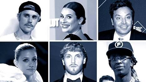 Justin Bieber (vas. ylh.), Lea Michele, Jimmy Fallon, Lili Reinhart, Logan Paul ja Young Thug pyysivät anteeksi.