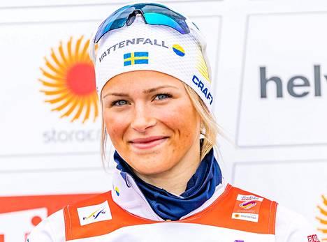 Frida Karlsson kuvattuna Seefeldin MM-kisoissa 3. maaliskuuta 2019.