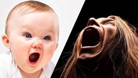 Vauvat ja metallibändien laulajat huutavat tehokkaimmin e- ja ä-vokaalilla.