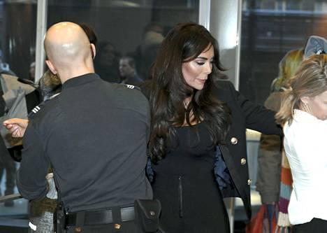 Sofia Belórf turvatarkastuksessa oikeustalolla tammikuun lopussa.