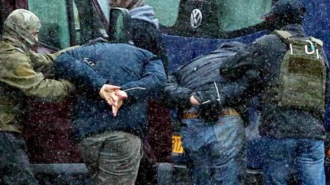 Viranomaiset tekivät kiinniottoja opposition mielenosoituksessa Minskissä 29. marraskuuta.