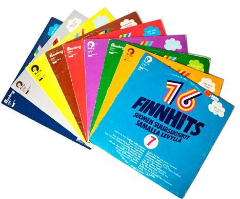 Finnhits-sarjaa markkinoitiin voimakkaasti televisiossa.