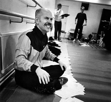 Jouko Turkka toimi Teatterikorkeakoulun lehtorina ja rehtorina 1980-luvulla. Kuva harjoituksista vuonna 1986.