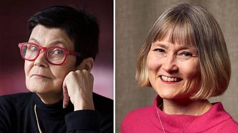 Helene Bützow (vas.) ja Lotta Toivanen.
