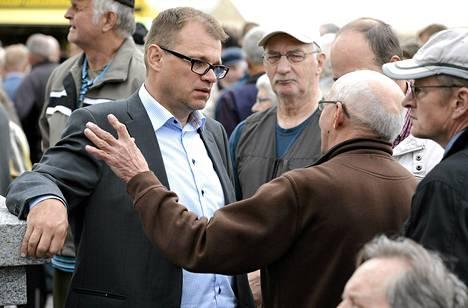 Keskustan Juha Sipilä toritapaamisessa Mikkelissä torstaina