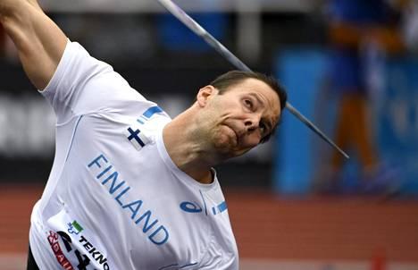 Tero Pitkämäki voitti kahdeksannen kerran keihäänheiton Ruotsi-ottelussa.