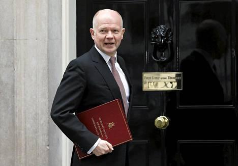 Britannian ulkoministeri William Hague Lontoossa maaliskuun 19. päivä.