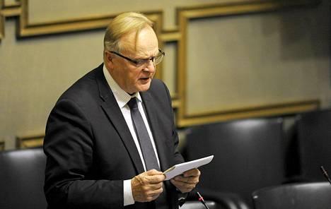 Lauri Ihalainen eduskunnan täysistunnossa viime marraskuussa.