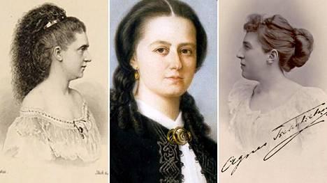 Säveltäjät Ingeborg von Bronsart (vas.), Laura Netzel ja Agnes Tschetschulin.