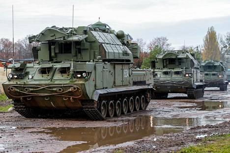 Venäjän armeija käytti TOR-M2-ilmatorjuntajärjestelmää sotaharjoituksissa Kaliningradissa marraskuussa.