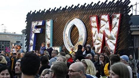 Flow-festivaalille odotetaan kymmeniätuhansia kävijöitä. Kuva vuodelta 2016.
