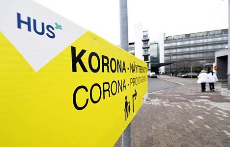 Meilahden sairaala-alueen näytteenottopiste Helsingissä.