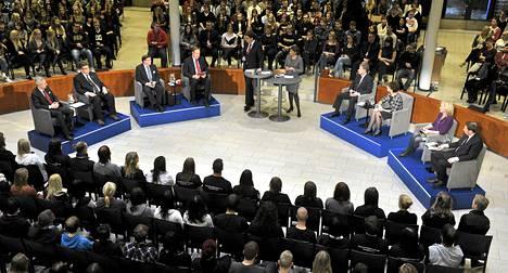 Ylen ja lukiolaisten presidentinvaaliväittely järjestettiin Järvenpään suurlukiossa torstai-iltana.