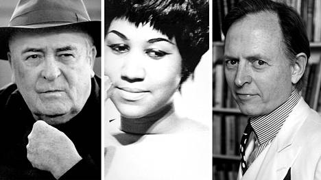 Ohjaaja Bernardo Bertolucci, laulaja Aretha Franklin ja kirjailija-toimittaja Tom Wolfe