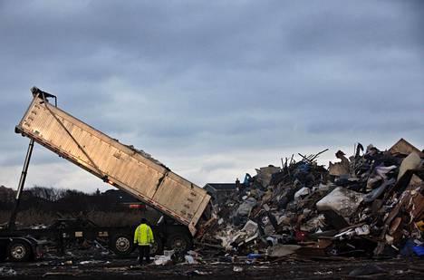 Kaatopaikka Yhdysvalloissa New Yorkin liepeillä 2012.