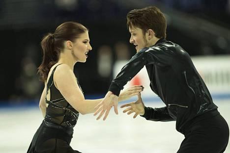 Cecilia Törn ja Jussiville Partanen kuvattuna viime keväänä taitoluistelun MM-kisoissa.