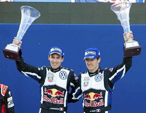Julien Ingrassian ja Sébastien Ogierin ralli päättyi onnellisesti.