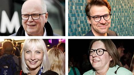 Eero Heinäluoma, Ville Niinistö, Laura Huhtasaari ja Heidi Hautala ovat eurovaalien ääniharavia.