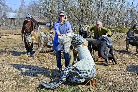 Kauhajoella sijaitsevan Alpon Savannin eläimet heräteltiin eloon talven jäljiltä huhtikuun lopulla.