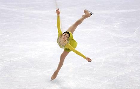 Etelä-Korean Yuna Kim oli omaa luokkaansa taitoluistelun lyhytohjelmassa.