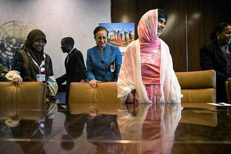 Malala Yousafzai osallistui muiden nuorten valtuutettujen kanssa keskusteluun YK:n pääsihteeri Ban-ki Moonin kanssa YK:n nuorten kokouksessa viime perjantaina.