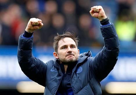 Chelsean valmentaja Frank Lampard onnistui luotsaamaan joukkueensa voittoon.