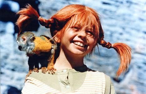 Inger Nilsson näytteli Peppi Pitkätossua sekä elokuvissa että tv-sarjoissa 1969–1973. Kuva elokuvasta Peppi Pitkätossu seitsemällä merellä.