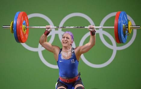 Anni Vuohijoki tempasi Riossa 85 kiloa ja työnsi 107 kiloa. Yhteistulos 192 kiloa riitti B-ryhmän neljänneksi.