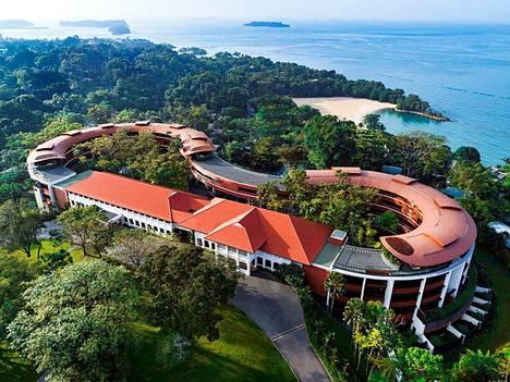 Yhdysvaltain presidentti Donald Trump ja Pohjois-Korean johtaja Kim Jong-un tapaavat Capella-hotellissa Sentosan saarella Singaporessa.