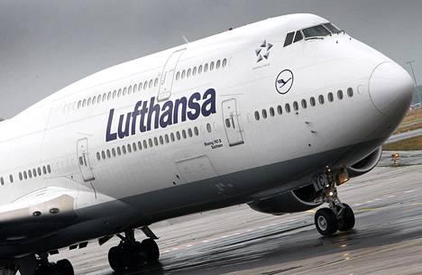 Lufthansa ilmoitti keskiviikkona peruvansa Kiinan-lentonsa helmikuun 9. päivään saakka koronaviruksen takia.