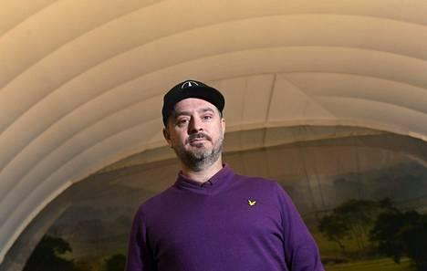 Mikko Korhonen golfin olympiaryhmän tiedotustilaisuudessa 17. joulukuuta 2019.