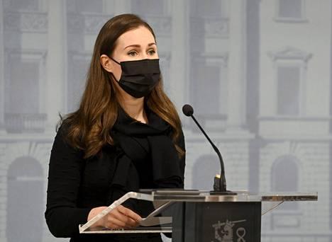 Pääministeri Sanna Marin (sd)