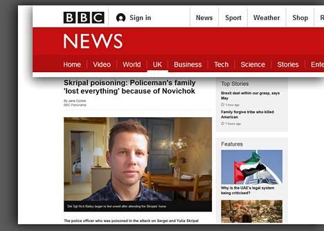 Hermomyrkkytapauksessa loukkaantunut brittipoliisi Nick Bailey antoi haastattelun yleisradioyhtiö BBC:lle.
