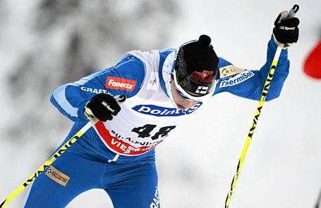 Matti Heikkinen sijoittui parhaana suomalaisena 17:nneksi. Kuva on Rukan kilpailusta.