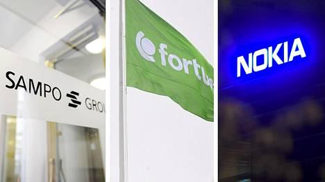 Muiden pohjoismaalaisten suosituimmat suomalaisosakkeet olivat viime vuonna Fortum, Sampo ja Nokia.