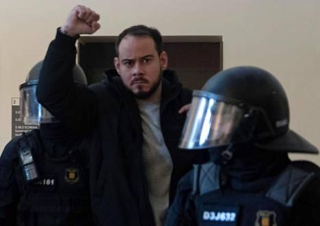 Poliisi kävi hakemassa Pablo Hasélin yliopistolta Lleidassa tiistaina 16. helmikuuta.