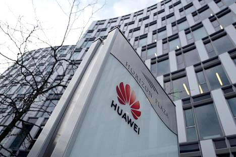 Kiinalaisen Huawein toimistorakennus Varsovassa Puolassa.
