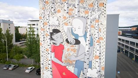 Italialaisen Millon muraali valmistui syyskuun alussa Jyväskylään, Vapaudenkatu 65:n seinään.