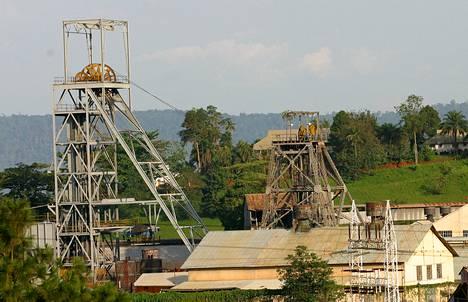Ashantin kultakaivos Ghanassa.