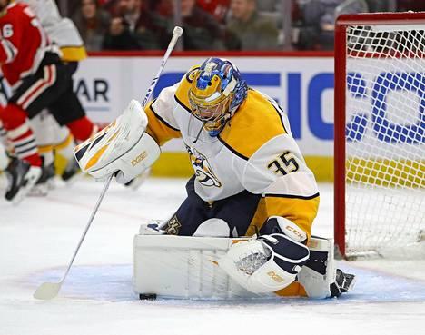 Pekka Rinne on pelannut 599 runkosarjan NHL-ottelua.