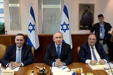 Israelin pääministeri Benjamin Netanyahu osallistui hallituksen kokoukseen Jerusalemissa marraskuussa.