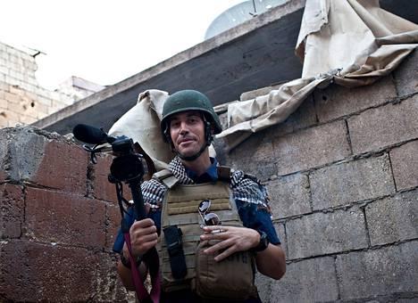 James Foley oli Aleppossa Syyriassa marraskuussa 2012. Asemiehet sieppasivat hänet parisen viikkoa kuvan ottamisen jälkeen.