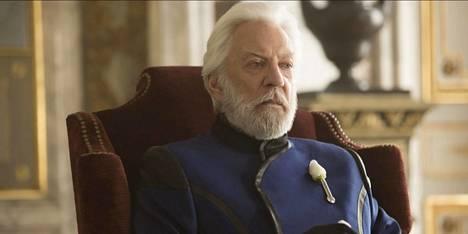 Presidentti Coriolanus Snow (Donald Sutherland) on Nälkäpeli-trilogian julma diktaattori.