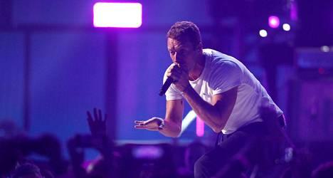 Laulaja Chris Martin Coldplayn keikalla Las Vegasissa 19. syyskuuta.