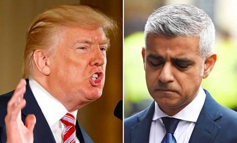 Yhdysvaltain presidentti Donald Trump ja Lontoon pormestari Sadiq Khan ovat vihoitelleet toisilleen julkisesti vuodesta 2016.