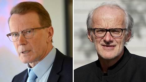 Pentti Hyttinen (vas.) ja Seppo Koskinen.