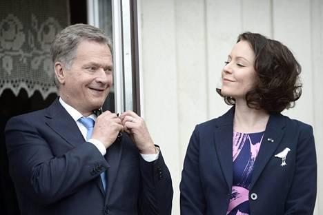 Presidentti Sauli Niinistö ja rouva Jenni Haukio.
